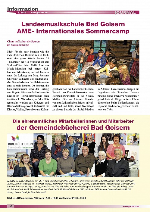 Article in Newspaper about AME Camp